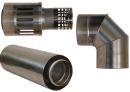 Коаксиальный дымоход для газовых каминов Karma NOBLESSE D130/200 1000 мм в Калининграде